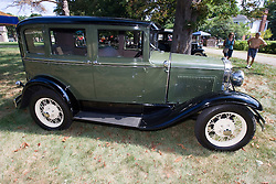 06 Aug 2011:  A 1931 Ford Model A owned by Dean and Becky Easton displayed at the 15th Annual McLean County Car Association Antique Car show at David Davis Mansion, Bloomington Illinois