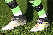 Rainbow laces during the EFL Sky Bet League 2 match between Forest Green Rovers and Cheltenham Town at the New Lawn, Forest Green, United Kingdom on 25 November 2017. Photo by Shane Healey.