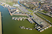Nederland, Friesland, Harlingen, 28-02-2016; overzicht Harlingen met Nieuwe Vissershaven.<br /> Overview Harlingen harbor.<br /> luchtfoto (toeslag op standard tarieven);<br /> aerial photo (additional fee required);<br /> copyright foto/photo Siebe Swart