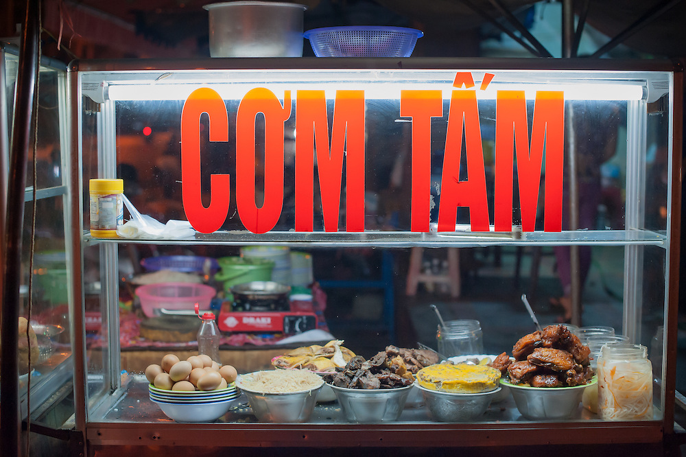 Street food stall in Vietnam