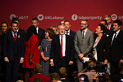 © Licensed to London News Pictures. 27/09/2017. Brighton, UK. JEREMY CORBYN, Leader of the Labour Party and Member of parliament for Islington North, speaks at the last day of the 2017 Labour Party Conference in Brighton. Photo credit: Hugo Michiels/LNP