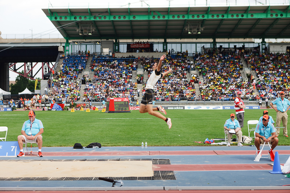 Samsung Diamond League adidas Grand Prix track & field; Lapierre, men's long jump