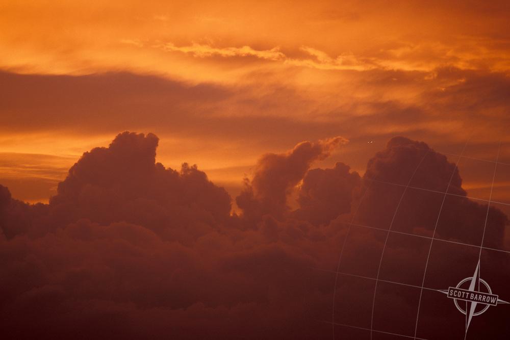 Cumulostratus Clouds at Sunset