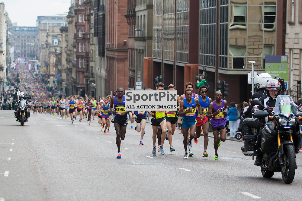 The Great Scottish Run Half Marathon in Glasgow on 04 October 2015<br />
