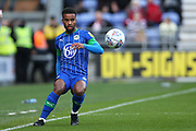 Wigan Athletic defender Nathan Byrne (2) during the EFL Sky Bet Championship match between Wigan Athletic and Nottingham Forest at the DW Stadium, Wigan, England on 20 October 2019.