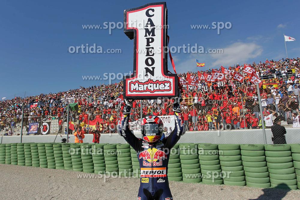 07.11.2010, Valencia, ESP, MotoGP, GP Generali del la comunitat Valenciana, im Bild Marc Marquez - Red bull Derbi team. EXPA Pictures © 2010, PhotoCredit: EXPA/ InsideFoto/ Semedia +++++ ATTENTION - FOR AUSTRIA AND SLOVENIA CLIENT ONLY +++++