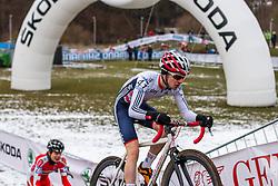 Alfie Moses (GBR), Men Juniors, Cyclo-cross World Championship Tabor, Czech Republic, 31 January 2015, Photo by Pim Nijland / PelotonPhotos.com
