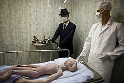 Alien autopsy exhibit, International UFO Museum and Research Center, Roswell, New Mexico, United States of America