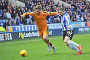 Wolverhampton Wanderers midfielder James Henry,Gary Hooper of Sheffield Wednesday during the Sky Bet Championship match between Sheffield Wednesday and Wolverhampton Wanderers at Hillsborough, Sheffield, England on 20 December 2015. Photo by Ian Lyall.