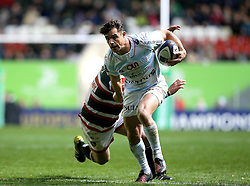 Dan Carter of Racing 92 runs with the ball  - Mandatory by-line: Robbie Stephenson/JMP - 23/10/2016 - RUGBY - Welford Road Stadium - Leicester, England - Leicester Tigers v Racing 92 - European Champions Cup