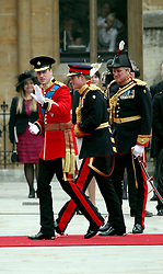 29 April 2011. London, England..Royal wedding day. Princes William and Harry arrive at Westminster Abbey. .Photo; Charlie Varley.