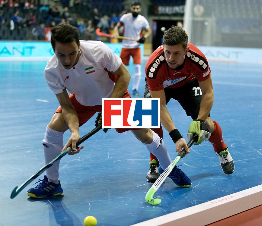 BERLIN - Indoor Hockey World Cup<br /> Men: Iran - Switzerland<br /> foto: GREDER Martin.<br /> COPYRIGHT WILLEM VERNES