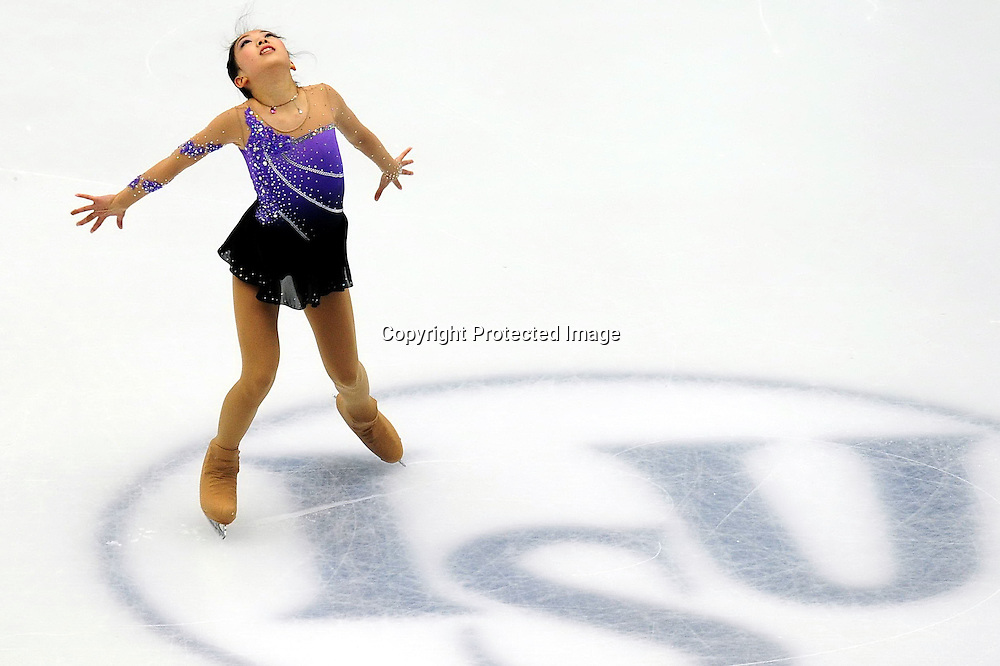 Dec 09, 2010; Beijing, CHINA; Risa Shoji of Japan competes in the Junior Ladies short program of the ISU Grand Prix Final.