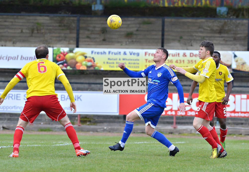 Drawing a blank - Rory McAllister of the Blue Toon gets nowhere against Albion Rovers......(c) BILLY WHITE | SportPix.org.uk