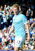 Kevin De Bruyne in action on his debut during the Barclays Premier League match between Crystal Palace and Manchester City at Selhurst Park, London, England on 12 September 2015. Photo by Michael Hulf.