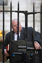 © London News Pictures. 18/12/2012. London, UK.  Secretary of State for Communities and Local Government Eric Pickles MP arriving on Downing Street, in London for cabinet meeting on December 18, 2012 Photo credit: Ben Cawthra/LNP.