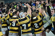 Taranaki players celebrate with fans after winning the Ranfurly Shield, ITM Cup, Rugby Union. Southland v Taranaki at Rugby Park Stadium, Invercargill, New Zealand. Wednesday 24 August 2011. New Zealand. Photo: Richard Hood/photosport.co.nz