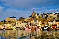 France, Manche (50), Granville, le port et la Haute-Ville // France, Normandy, Manche department, Granville, the port and the High City