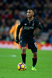 SUNDERLAND, ENGLAND - Monday, January 2, 2017: Liverpool's Daniel Sturridge in action against Sunderland during the FA Premier League match at the Stadium of Light. (Pic by David Rawcliffe/Propaganda)
