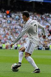 09.05.2015, Estadio Santiago Bernabeu, Madrid, ESP, Primera Division, Real Madrid vs FC Valencia, 36. Runde, im Bild Real Madrid&acute;s Cristiano Ronaldo // during the Spanish Primera Division 36th round match between Real Madrid CF and Valencia FC at the Estadio Santiago Bernabeu in Madrid, Spain on 2015/05/09. EXPA Pictures &copy; 2015, PhotoCredit: EXPA/ Alterphotos/ Luis Fernandez<br /> <br /> *****ATTENTION - OUT of ESP, SUI*****