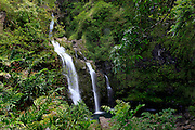 Waikani Falls, Hana Coast, Maui, Hawaii