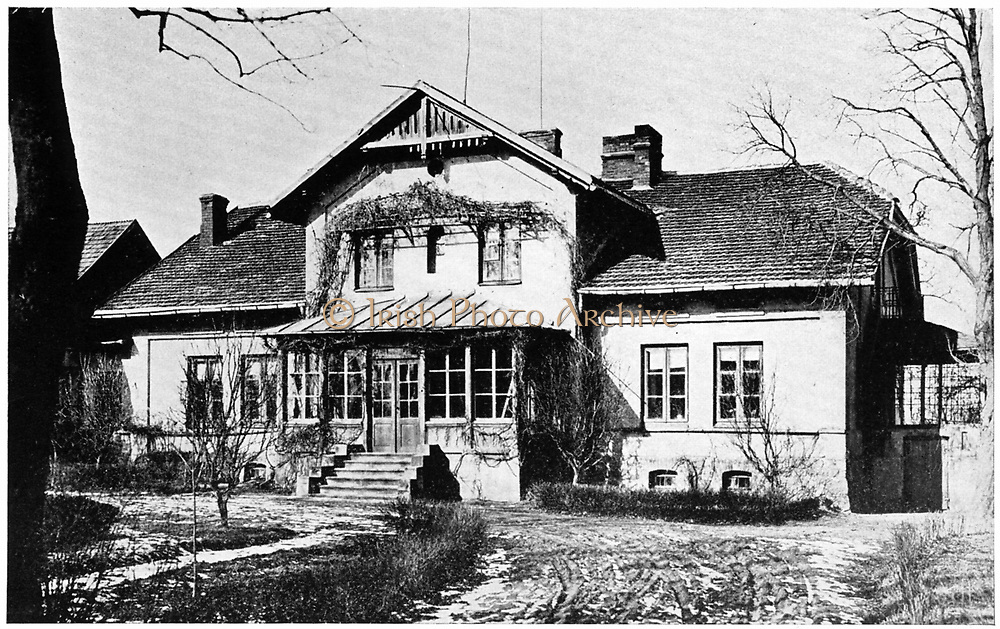 House of the Szczuki family in Poland where Manya Sklodovska (Marie Curie 1867-1934) was governess for three years from 1886