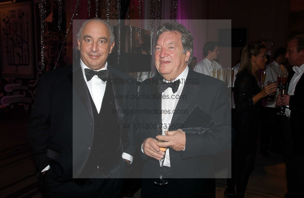 Left to right, PHILIP GREEN and GEORGE DAVIS founder of Next at the British Fashion Awards 2006 sponsored by Swarovski held at the V&A Museum, Cromwell Road, London SW7 on 2nd November 2006.<br />