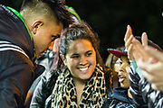 Marcus Smith, Fly Half (Harlequins) talking with Harlequins supporters following the Gallagher Premiership Rugby match between Harlequins and Saracens at Twickenham Stoop, Twickenham, United Kingdom on 6 October 2018.