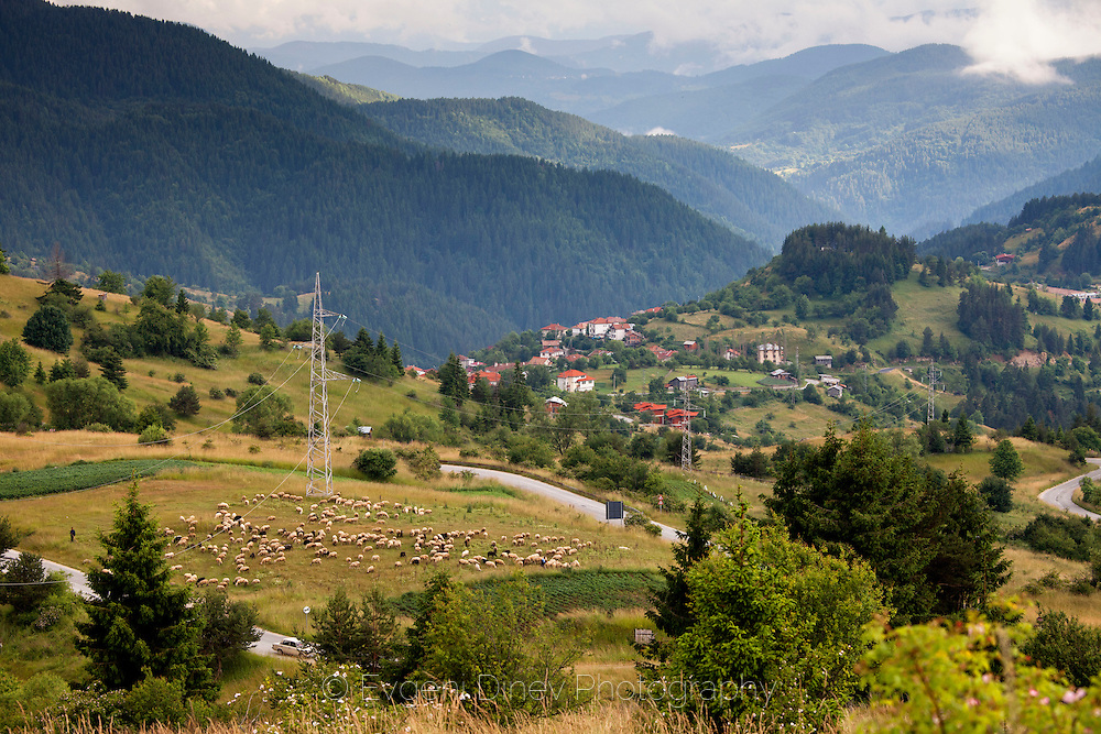 Bulgarian village in Rhodope mountains