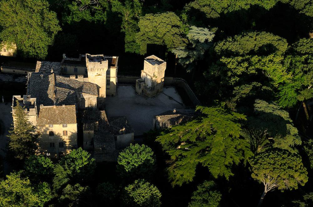 France, Languedoc Roussillon, Gard (30), région Uzès,  Château de St. Privat