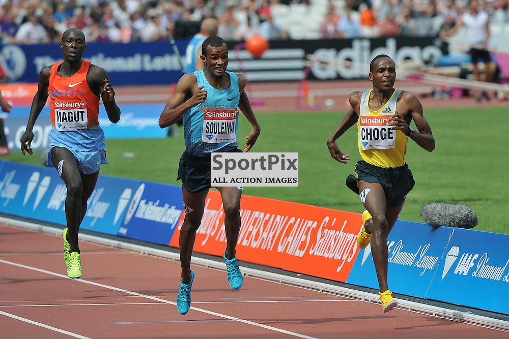 Augustine Kiprono Choge winning the Emsley Carr Mile.<br /> At the IAAF Diamond League - Sainsbury's Anniversary Games held at the London Olympic Stadium, Queen Elizabeth Olympic Park, Stratford, London, UK on the 27th July 2013.<br /> WAYNE NEAL | SPORTPIX.ORG.UK