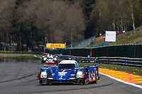 Gustavo Menezes (USA) / Nicolas Lapierre (FRA) / Stephane Richelmi (MCO) #36 Signatech-Alpine Alpine A460 Nissan, Free Practice 1  as part of the WEC 6 Hours of Spa-Francorchamps 2016 at Spa-Francorchamps, Stavelot, , Belgium . May 05 2016. World Copyright Peter Taylor/PSP.  Copy of publication required for printed pictures.  Every used picture is fee-liable. http://archive.petertaylor-photographic.co.uk