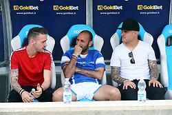 """Foto Filippo Rubin<br /> 06/05/2018 Ferrara (Italia)<br /> Sport Calcio<br /> Spal - Benvento - Campionato di calcio Serie A 2017/2018 - Stadio """"Paolo Mazza""""<br /> Nella foto: MANUEL LAZZARI (SPAL) PASQUALE SCHIATTARELLA (SPAL) E FEDERICO VIVIANI (SPAL)<br /> <br /> Photo Filippo Rubin<br /> May 06, 2018 Ferrara (Italy)<br /> Sport Soccer<br /> Spal vs Benvento - Italian Football Championship League A 2017/2018 - """"Paolo Mazza"""" Stadium <br /> In the pic: MANUEL LAZZARI (SPAL) PASQUALE SCHIATTARELLA (SPAL) AND FEDERICO VIVIANI (SPAL)"""