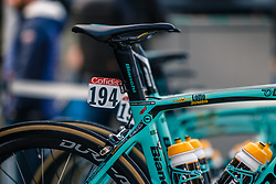 Bianchi OltreXR4 of LAMMERTINK Steven, Team LottoNL-Jumbo before the UCI WorldTour 103rd Liège-Bastogne-Liège from Liège to Ans with 258 km of racing at Liège (258 km to go), Belgium, 23 April 2017. Photo by Pim Nijland / PelotonPhotos.com | All photos usage must carry mandatory copyright credit (Peloton Photos | Pim Nijland)