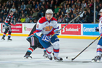 KELOWNA, CANADA - NOVEMBER 9:  Ashton Sautner #5 of the Edmonton Oil Kings skates on the ice against the Kelowna Rockets on November 9, 2013 at Prospera Place in Kelowna, British Columbia, Canada.   (Photo by Marissa Baecker/Shoot the Breeze)  ***  Local Caption  ***