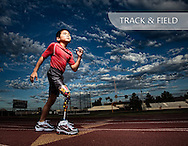 Athlete with a disability. This photo is part of a collection that can be purchased as posters. 100% of the tax-deductible donation goes to benefit the www.disabilitysportscenter.com in Phoenix, Arizona.