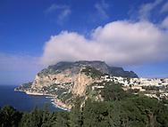 View of Capri and Capri Town, Italy