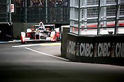 Mahindra Racing driver, Nick Heidfeld going round the chicane during round 10, Formula E, Battersea Park, London, United Kingdom on 3 July 2016. Photo by Matthew Redman.