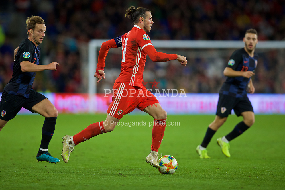 CARDIFF, WALES - Sunday, October 13, 2019: Wales' captain Gareth Bale during the UEFA Euro 2020 Qualifying Group E match between Wales and Croatia at the Cardiff City Stadium. (Pic by Laura Malkin/Propaganda)