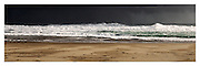 approaching storm and rolling surf at Johanna Beach