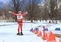 17.03.2017, Ramsau am Dachstein, AUT, Special Olympics 2017, Wintergames, Schneeschuhlauf, Divisioning 800 m, im Bild Werner Josef Stadelwieser (AUT) // during the Snowshoeing Divisioning 800 m at the Special Olympics World Winter Games Austria 2017 in Ramsau am Dachstein, Austria on 2017/03/17. EXPA Pictures © 2017, PhotoCredit: EXPA / Martin Huber