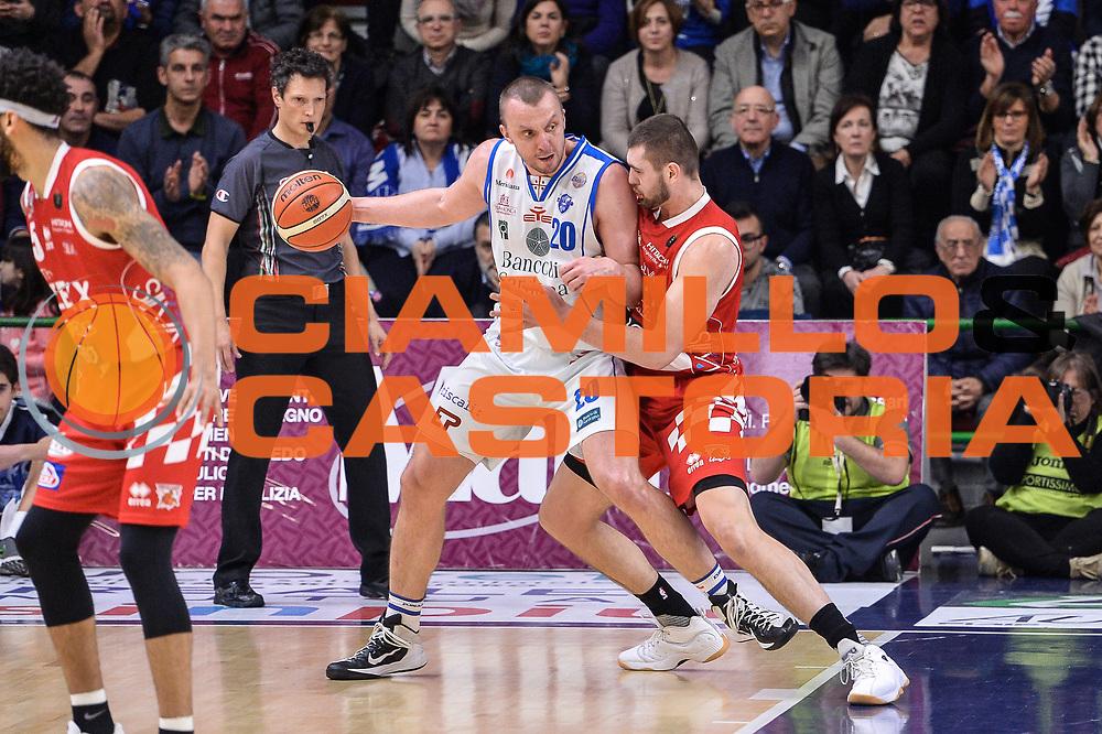 Dusko Savanovic<br /> Banco di Sardegna Dinamo Sassari - The Flexx Pistoia Basket<br /> Legabasket Serie A LBA Poste Mobile 2016/2017<br /> Sassari 04/03/2017