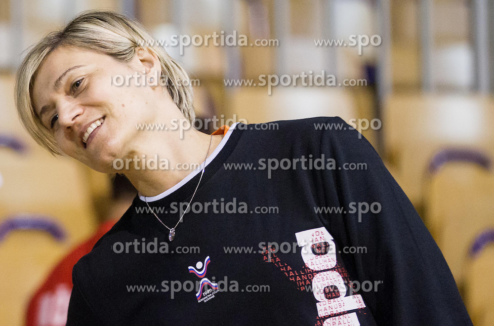 Anja Freser during practice session of Slovenian Women handball National Team three days before match against Serbia, on October 24, 2013 in Arena Tivoli, Ljubljana, Slovenia. (Photo by Vid Ponikvar / Sportida)
