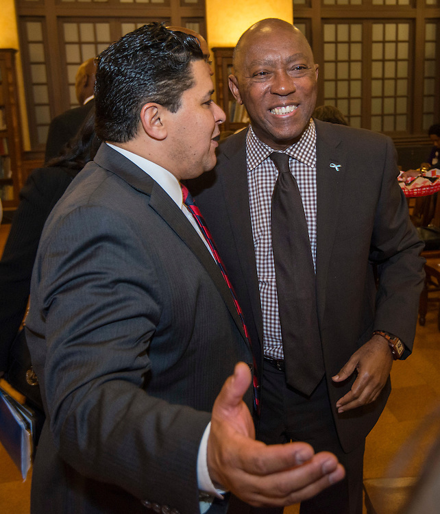 Reception for Houston ISD Superintendent Richard Carranza and Houston area elected officials and superitendents, November 9, 2016.