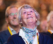 Liberal Democrats Annual Conference <br /> Bournemouth International Centre <br /> Bournemouth, Dorset, Great Britain <br /> 17th September 2019 <br /> Day 4<br /> <br /> Tribute to Lord Paddy Ashdown who died 22nd December 2018 - his widow Jane Courtenay was present. <br /> <br /> <br /> Photograph by Elliott Franks