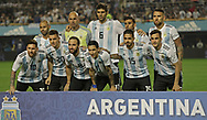 Argentina's football national team pose for a picture before the international friendly football match against Haiti at Boca Juniors' stadium La Bombonera in Buenos Aires, on May 29, 2018. (Alejandro PAGNI / PHOTOXPHOTO)