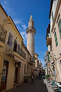The Ahmet Aga Minaret on Daliania St., Xania, a remnant from the city's Turkish days.