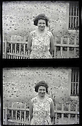 adult woman stereo image vintage 1900s