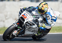 October 20, 2017 - Melbourne, Victoria, Australia - Czech rider Karel Abraham (#17) of Pull&Bear Aspar Team in action during the second free practice session at the 2017 Australian MotoGP at Phillip Island, Australia. (Credit Image: © Theo Karanikos via ZUMA Wire)