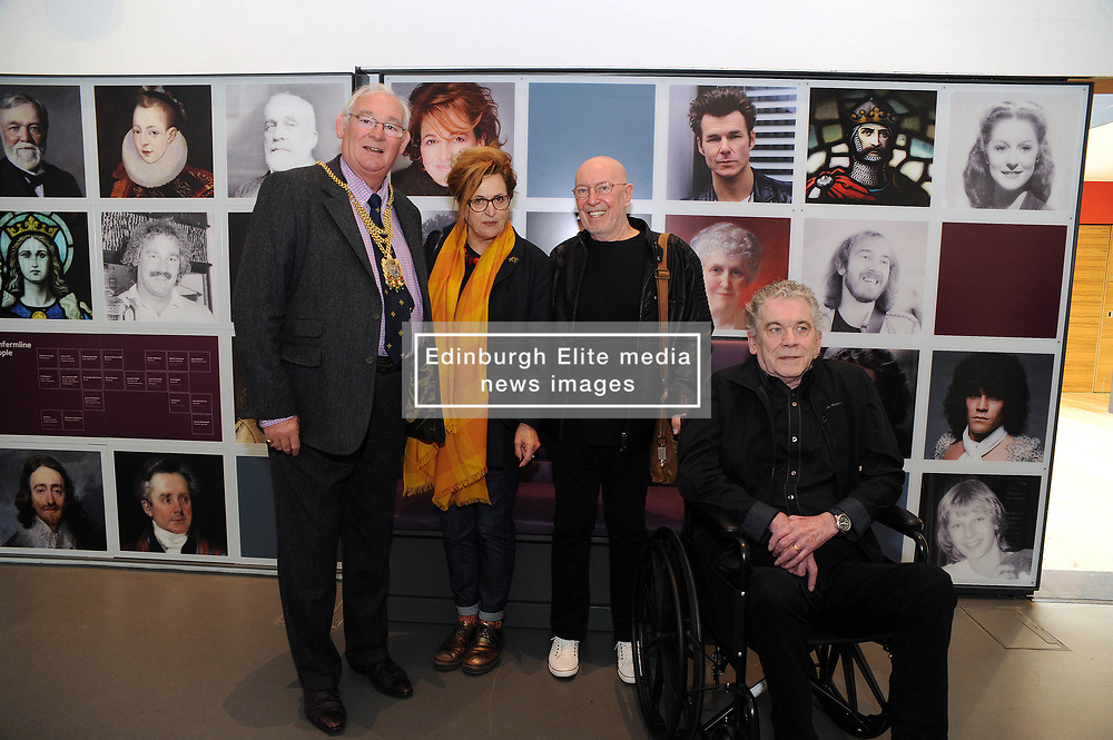 Dunfermline museum opening,Dunfermline, 6-9-2017<br /> <br /> Provist Jim Leishman with Brabara Dickson, Pete and Dan from Nazareth<br /> <br /> (c) David Wardle | Edinburgh Elite media